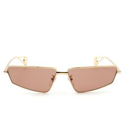 Gucci® Sunglasses: GG0537S color Gold 002.