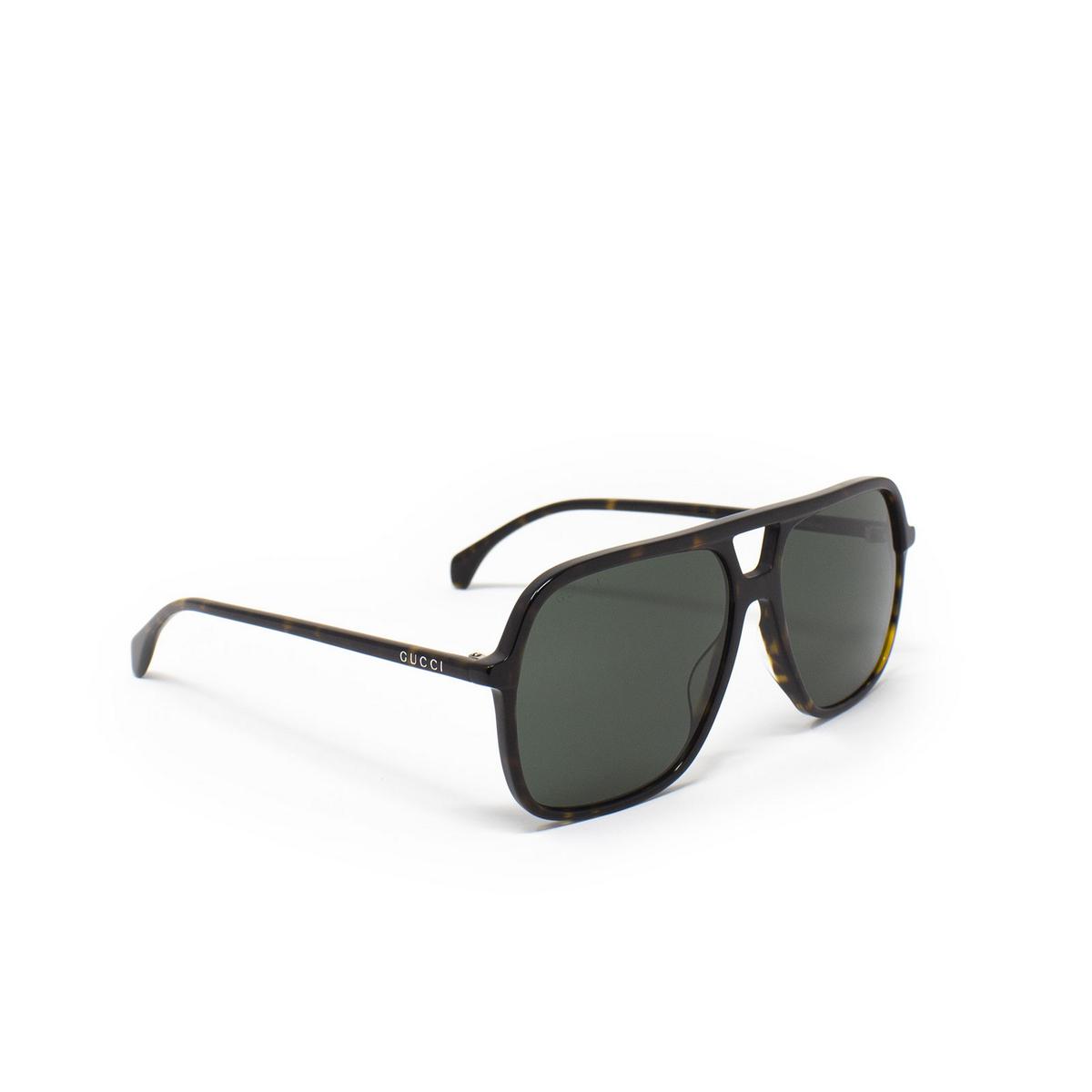 Gucci® Aviator Sunglasses: GG0545S color Havana 002 - 2/3.