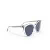 Gucci® Butterfly Sunglasses: GG0565S color Light Blue 003 - product thumbnail 2/3.