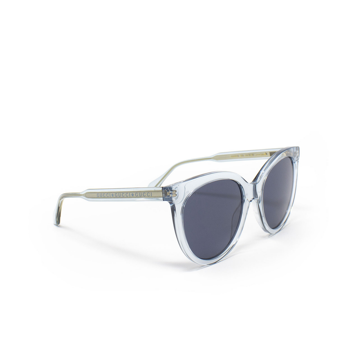 Gucci® Butterfly Sunglasses: GG0565S color Light Blue 003 - 2/3.