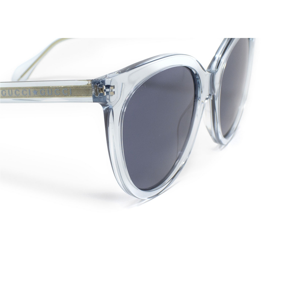 Gucci® Butterfly Sunglasses: GG0565S color Light Blue 003 - 3/3.