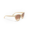 Gucci® Butterfly Sunglasses: GG0569S color White 006 - product thumbnail 2/3.