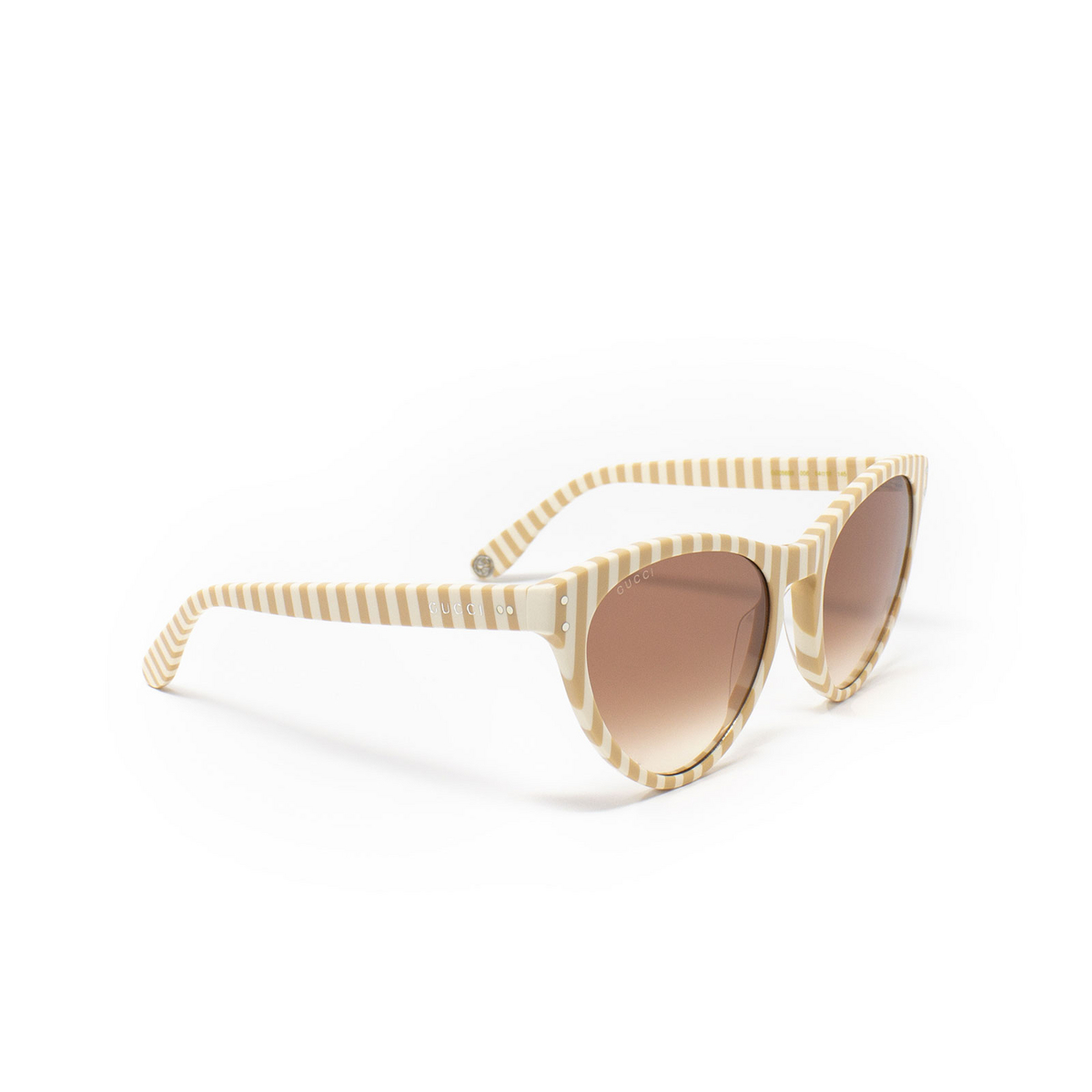 Gucci® Butterfly Sunglasses: GG0569S color White 006 - 2/3.