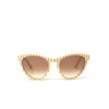 Gucci® Butterfly Sunglasses: GG0569S color White 006 - product thumbnail 1/3.