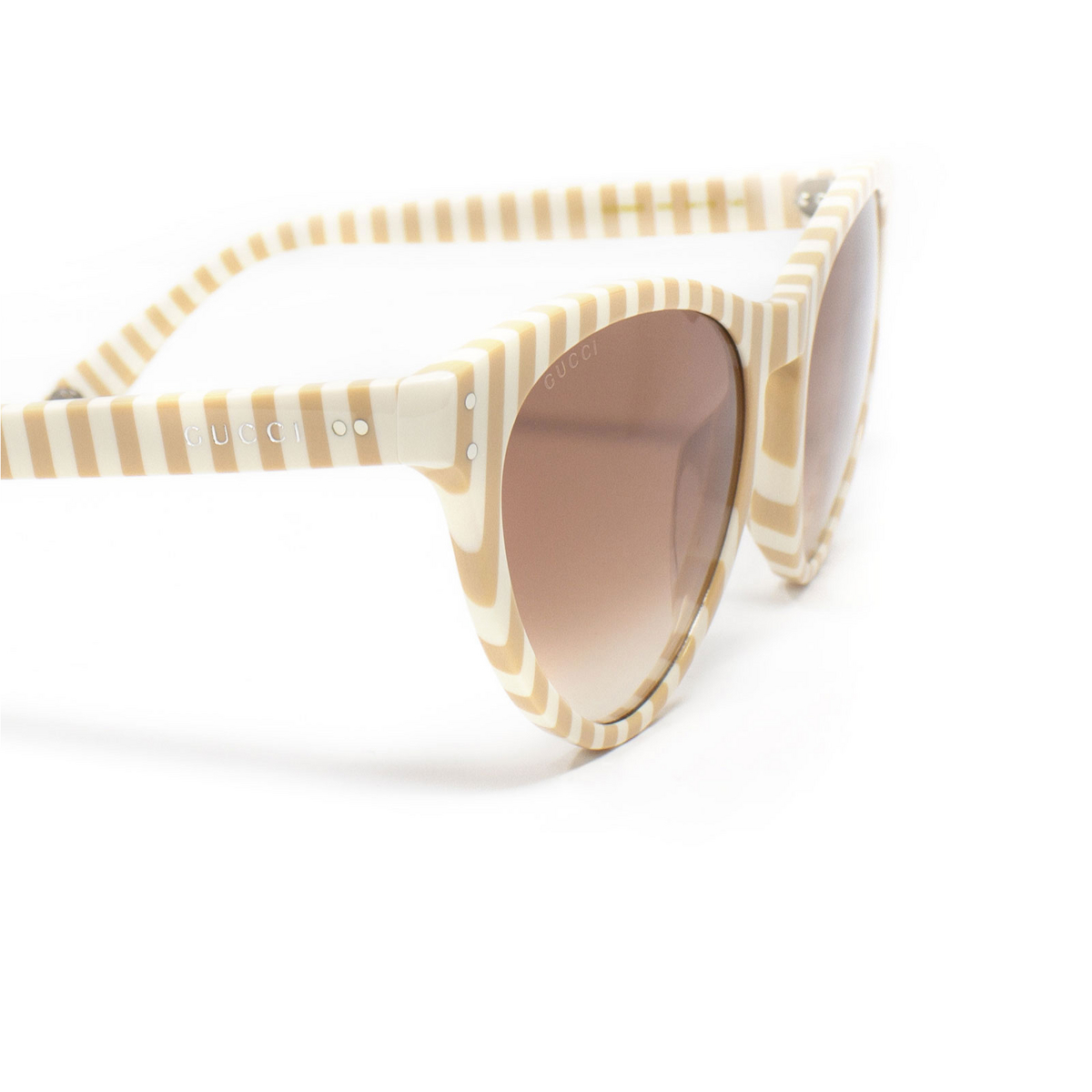 Gucci® Butterfly Sunglasses: GG0569S color White 006 - 3/3.