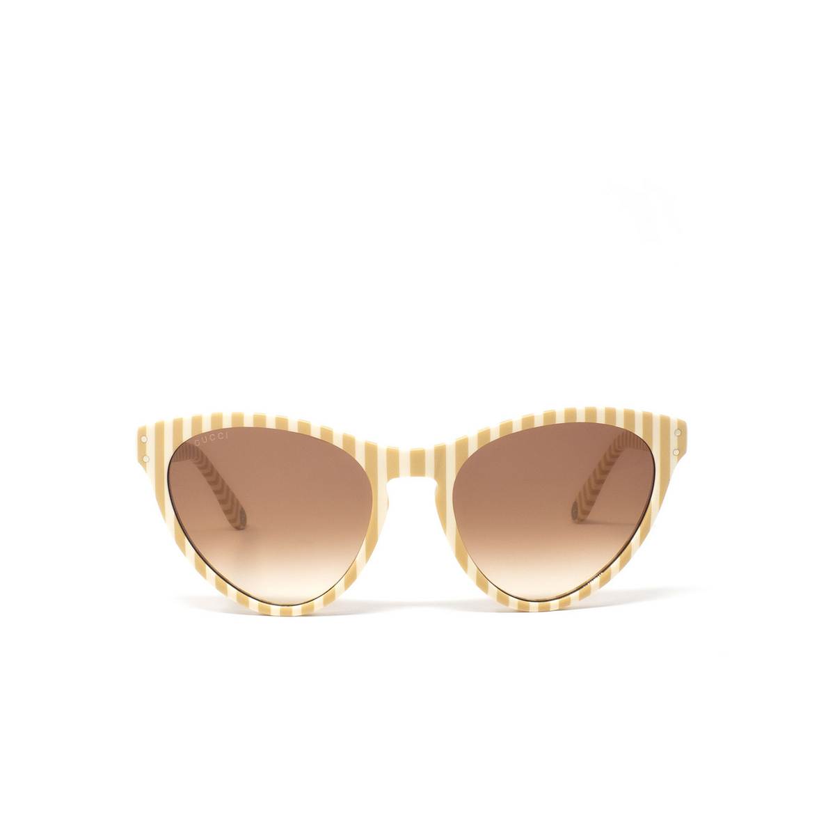 Gucci® Butterfly Sunglasses: GG0569S color White 006 - 1/3.
