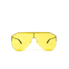 Gucci® Mask Sunglasses: GG0584S color Gold 004 - product thumbnail 1/3.