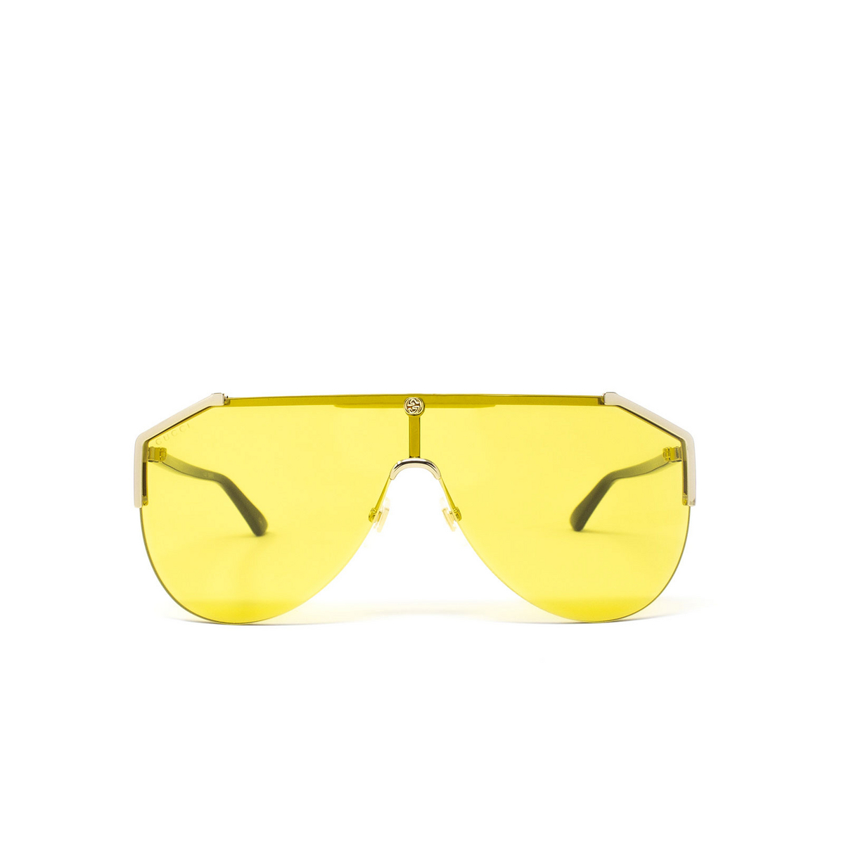 Gucci® Mask Sunglasses: GG0584S color Gold 004 - 1/3.