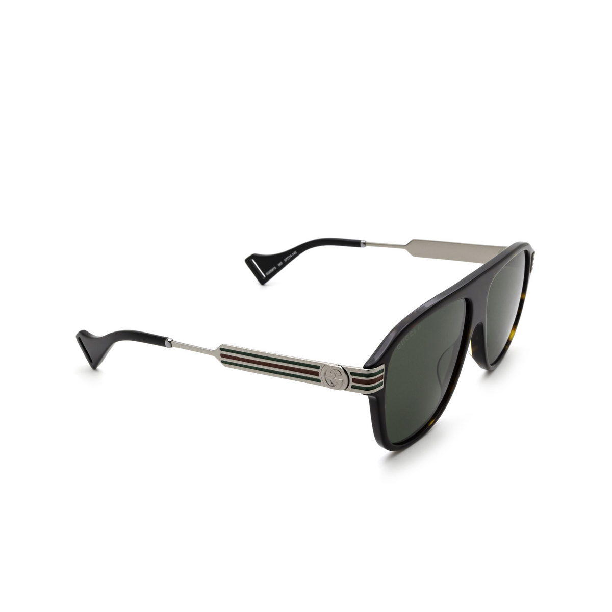 Gucci® Aviator Sunglasses: GG0587S color Havana 002 - 2/3.