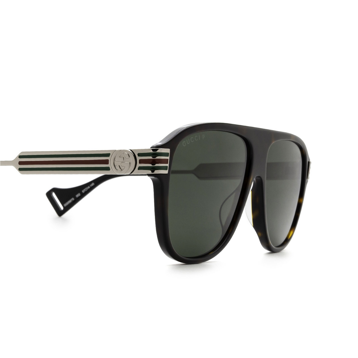 Gucci® Aviator Sunglasses: GG0587S color Havana 002 - 3/3.