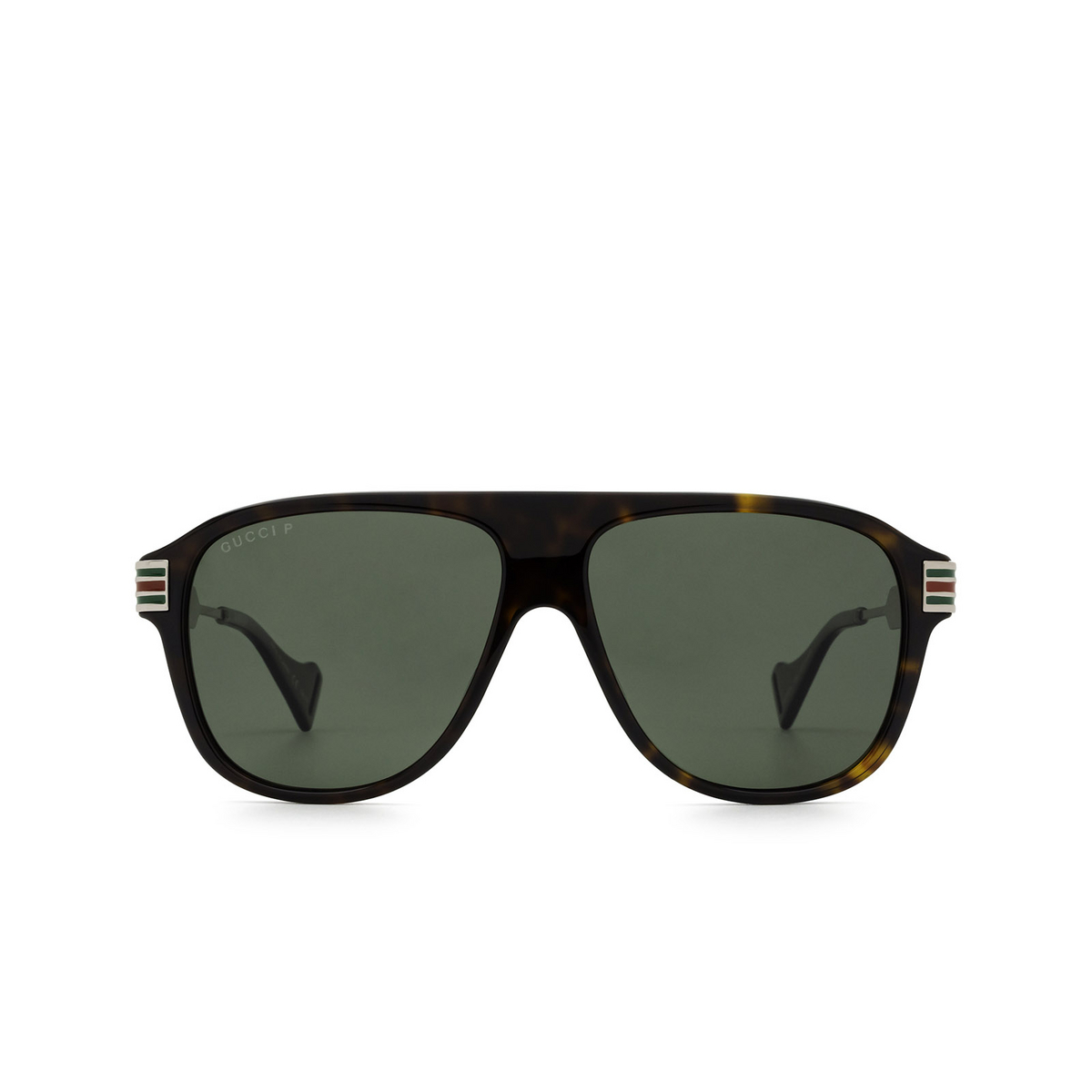 Gucci® Aviator Sunglasses: GG0587S color Havana 002 - 1/3.