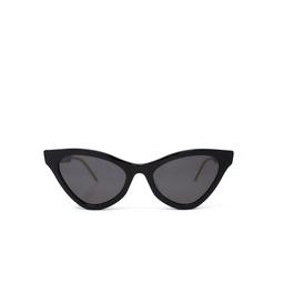 Gucci® Cat-eye Sunglasses: GG0597S color Black 001.