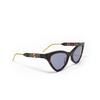 Gucci® Cat-eye Sunglasses: GG0597S color Havana 002 - product thumbnail 2/3.