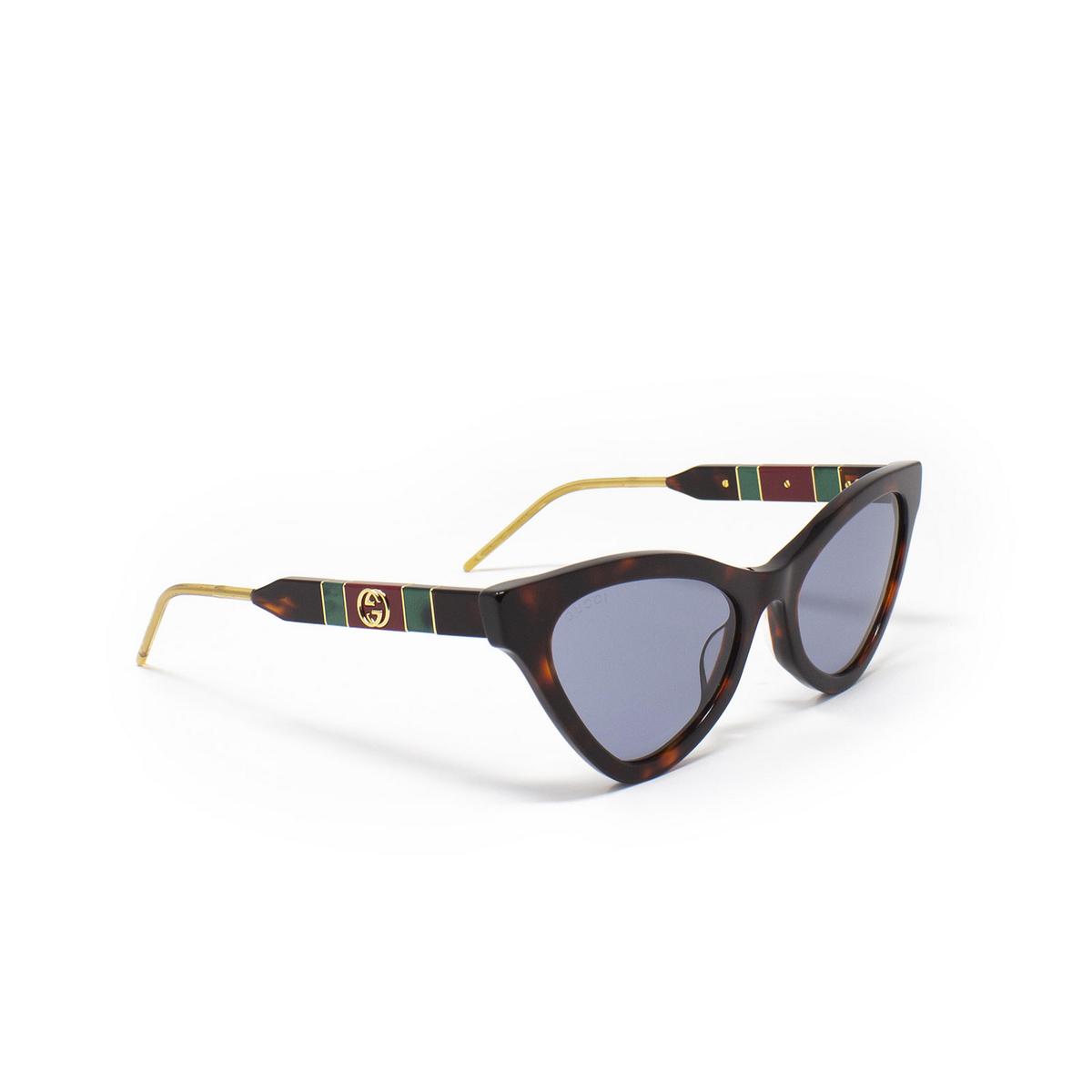 Gucci® Cat-eye Sunglasses: GG0597S color Havana 002 - 2/3.