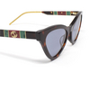 Gucci® Cat-eye Sunglasses: GG0597S color Havana 002 - product thumbnail 3/3.