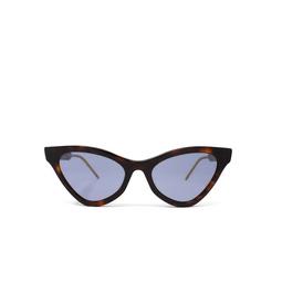 Gucci® Cat-eye Sunglasses: GG0597S color Havana 002.