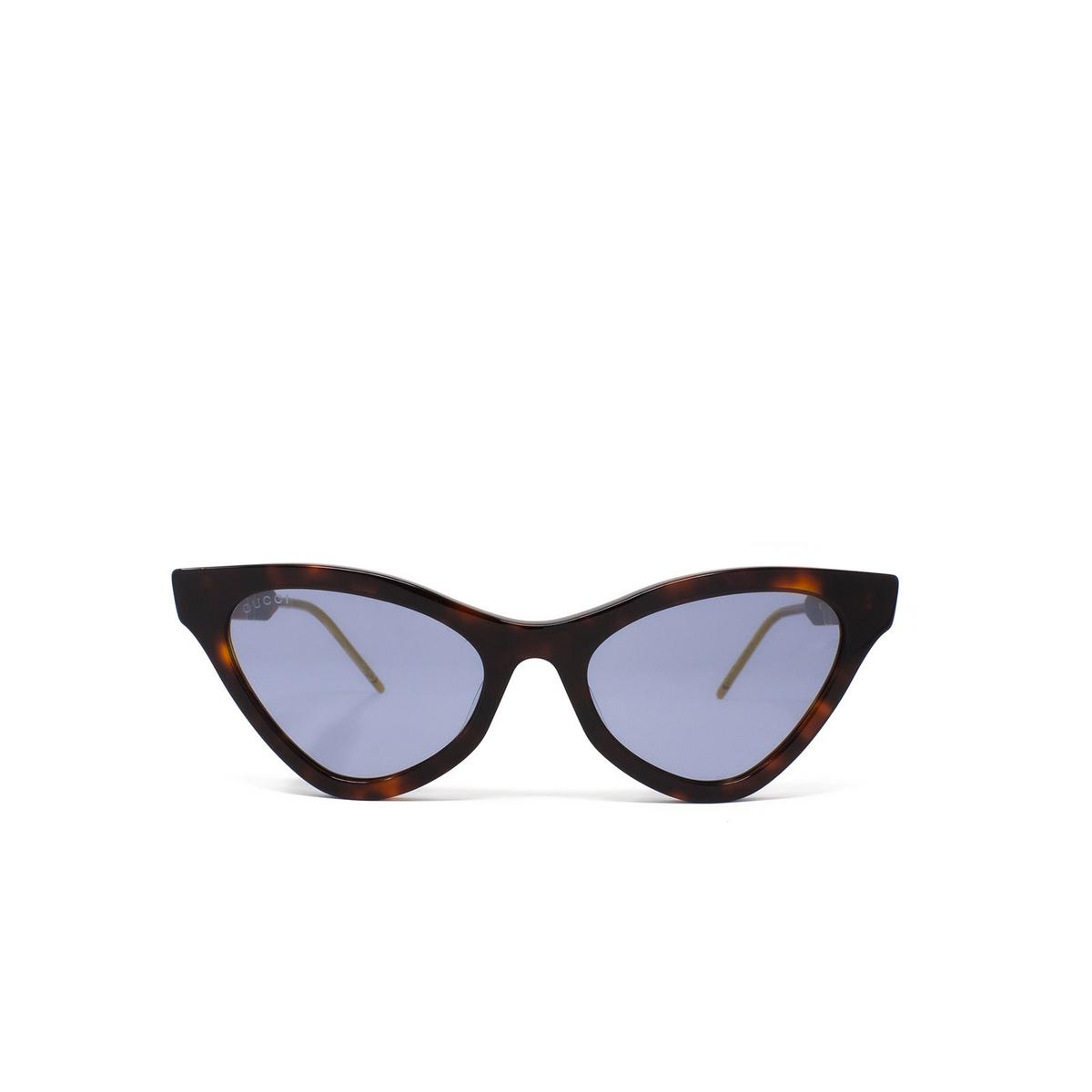 Gucci® Cat-eye Sunglasses: GG0597S color Havana 002 - 1/3.