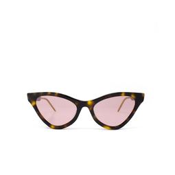 Gucci® Cat-eye Sunglasses: GG0597S color Havana 003.