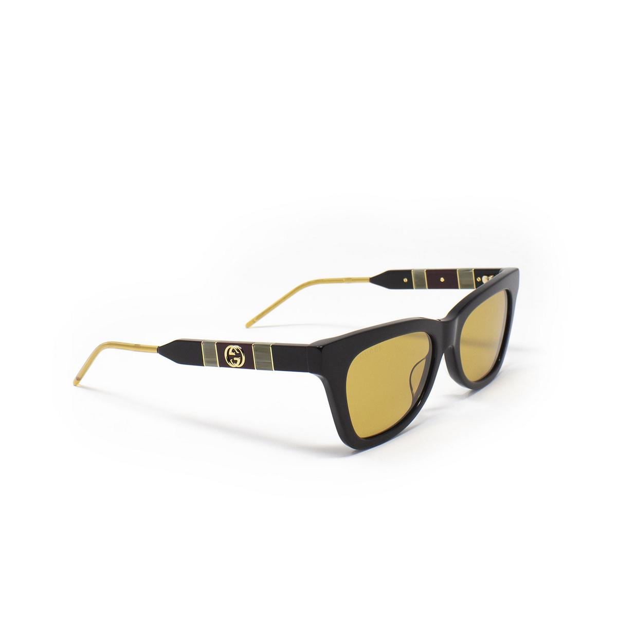 Gucci® Cat-eye Sunglasses: GG0598S color Black 004 - 2/3.