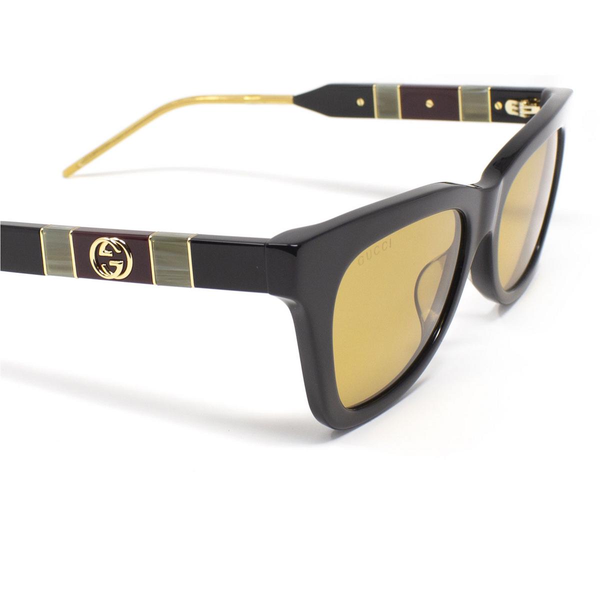 Gucci® Cat-eye Sunglasses: GG0598S color Black 004 - 3/3.