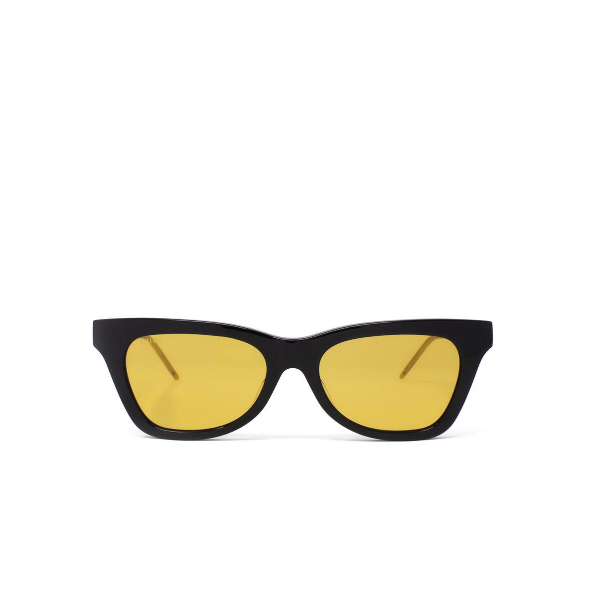 Gucci® Cat-eye Sunglasses: GG0598S color Black 004 - 1/3.