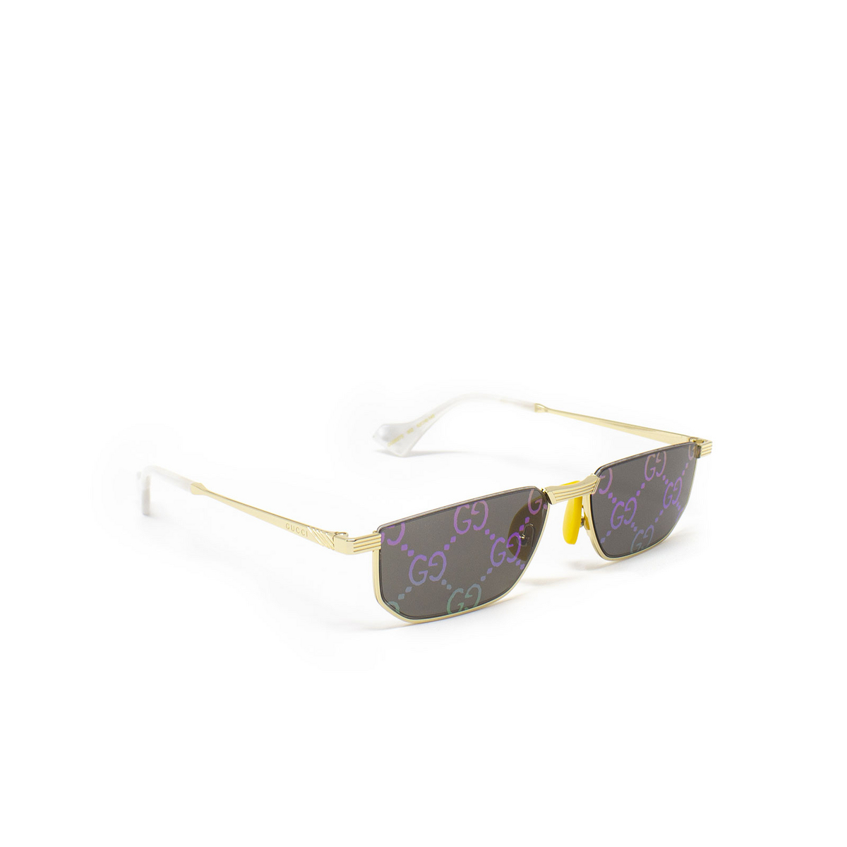 Gucci® Irregular Sunglasses: GG0627S color Gold 002 - 2/3.