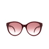Gucci® Round Sunglasses: GG0631S color Burgundy 003 - product thumbnail 1/3.
