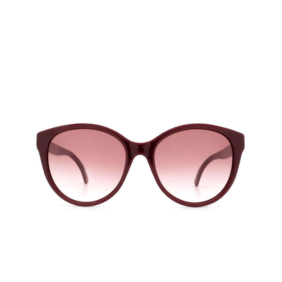 Gucci® Round Sunglasses: GG0631S color Burgundy 003 - 1/3.