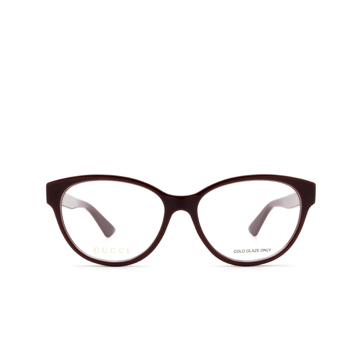 Gucci® Cat-eye Eyeglasses: GG0633O color Brown 003.
