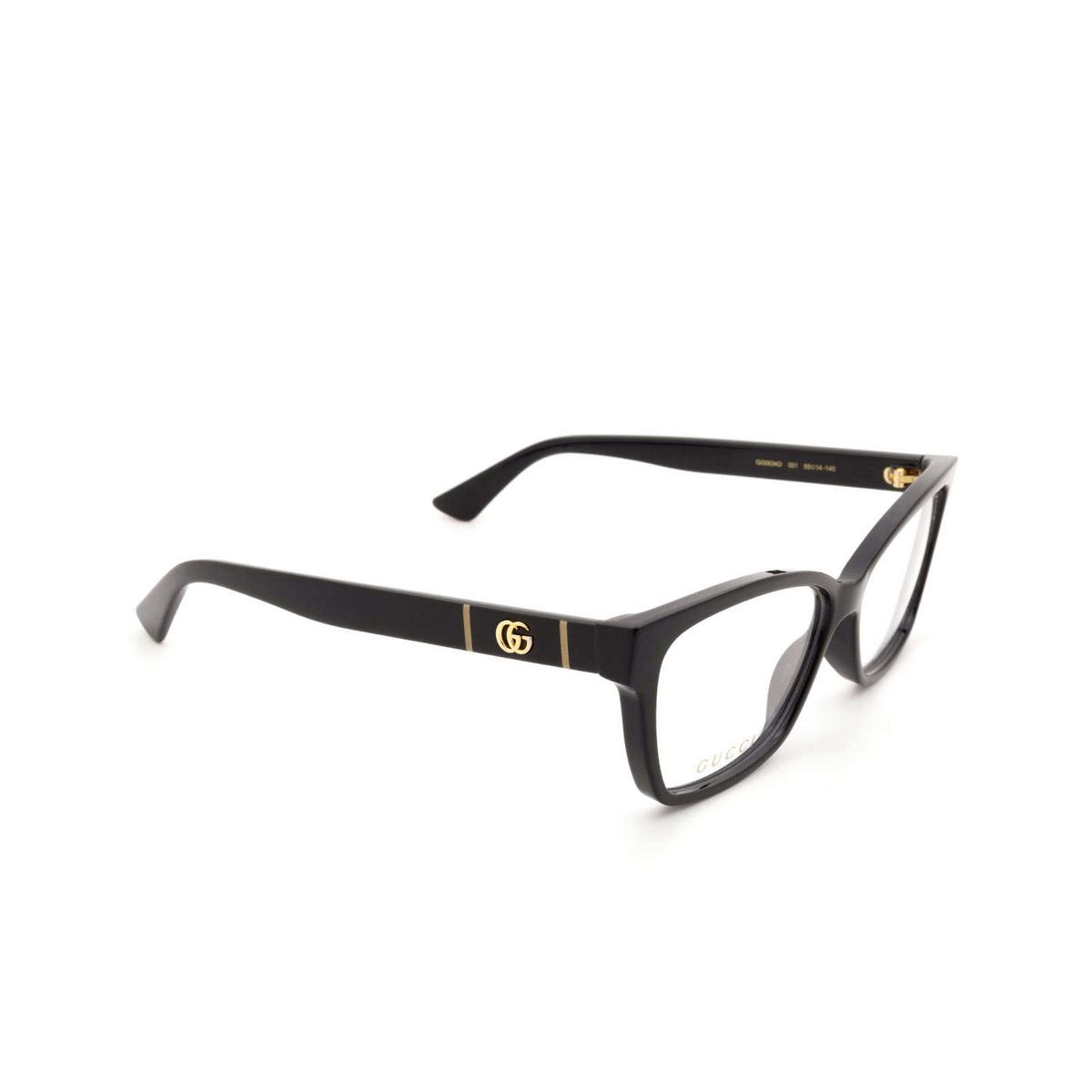 Gucci® Square Eyeglasses: GG0634O color Black 001.