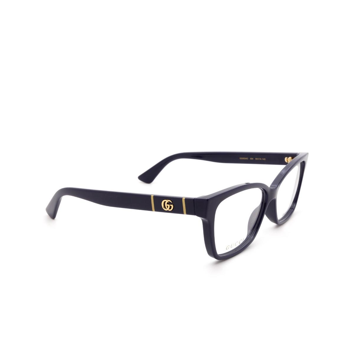 Gucci® Cat-eye Eyeglasses: GG0634O color Blue 004.