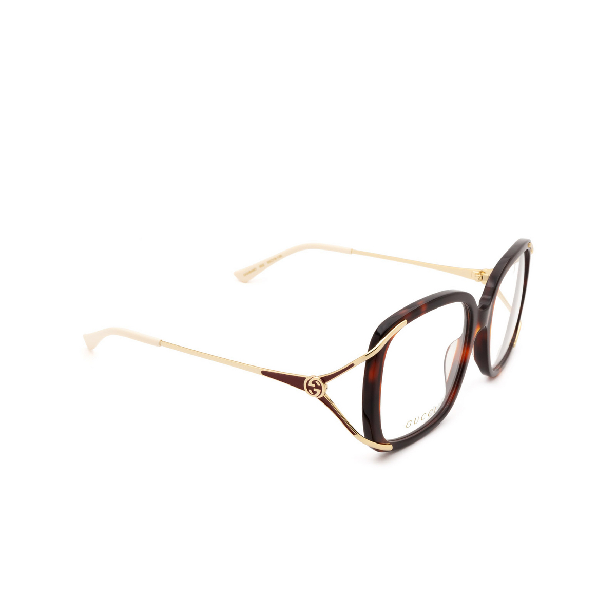 Gucci® Butterfly Eyeglasses: GG0648O color Havana 002.