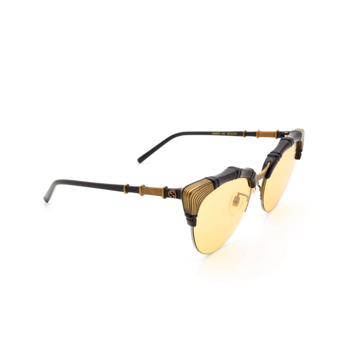 Gucci® Cat-eye Sunglasses: GG0661S color Black 002 - 2/3.