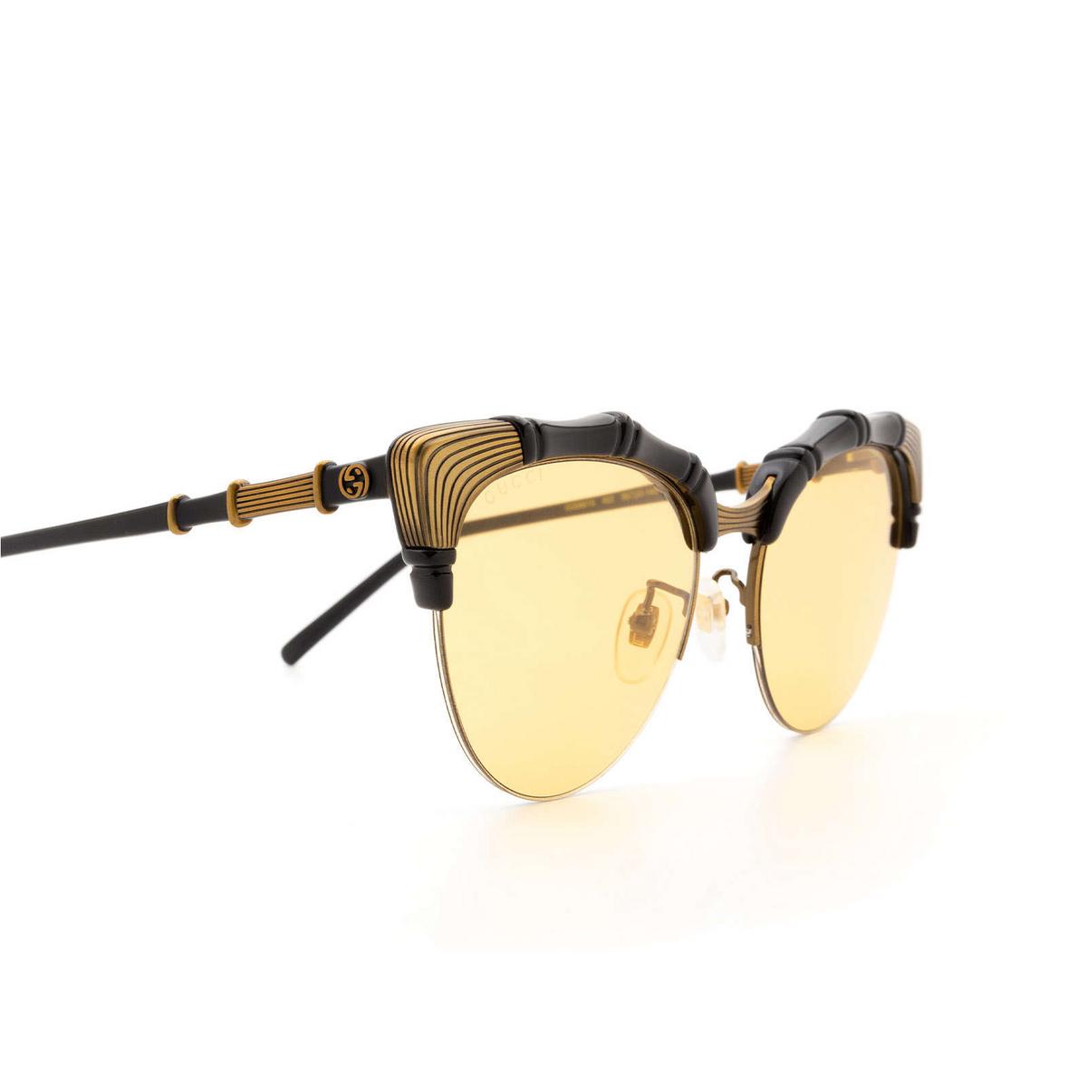 Gucci® Cat-eye Sunglasses: GG0661S color Black 002 - 3/3.