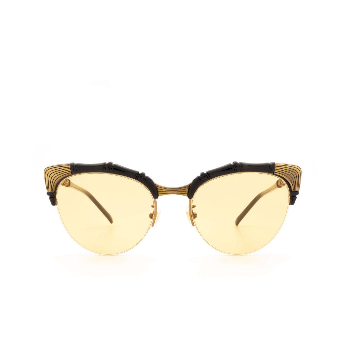 Gucci® Cat-eye Sunglasses: GG0661S color Black 002 - 1/3.