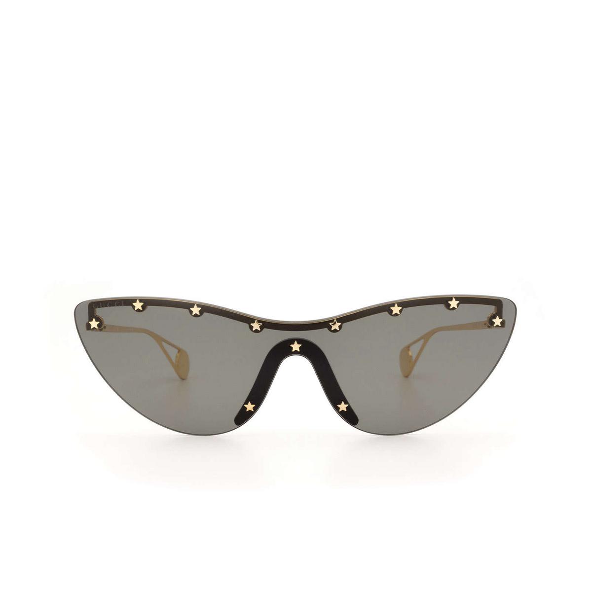 Gucci® Mask Sunglasses: GG0666S color Black 001 - front view.