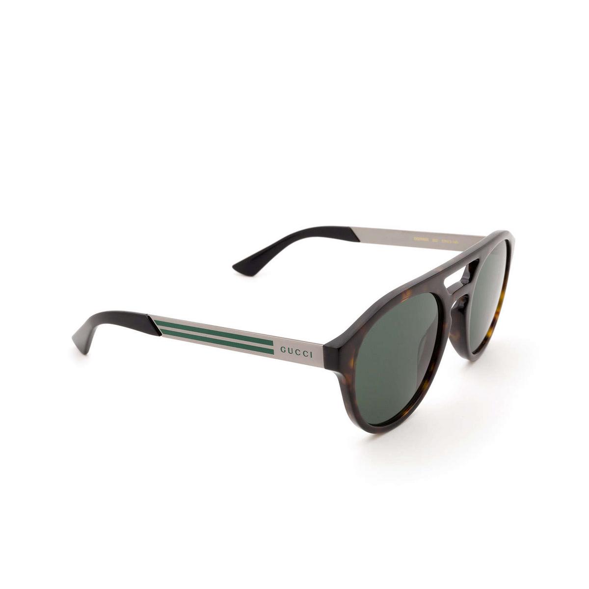 Gucci® Aviator Sunglasses: GG0689S color Havana 002 - 2/3.