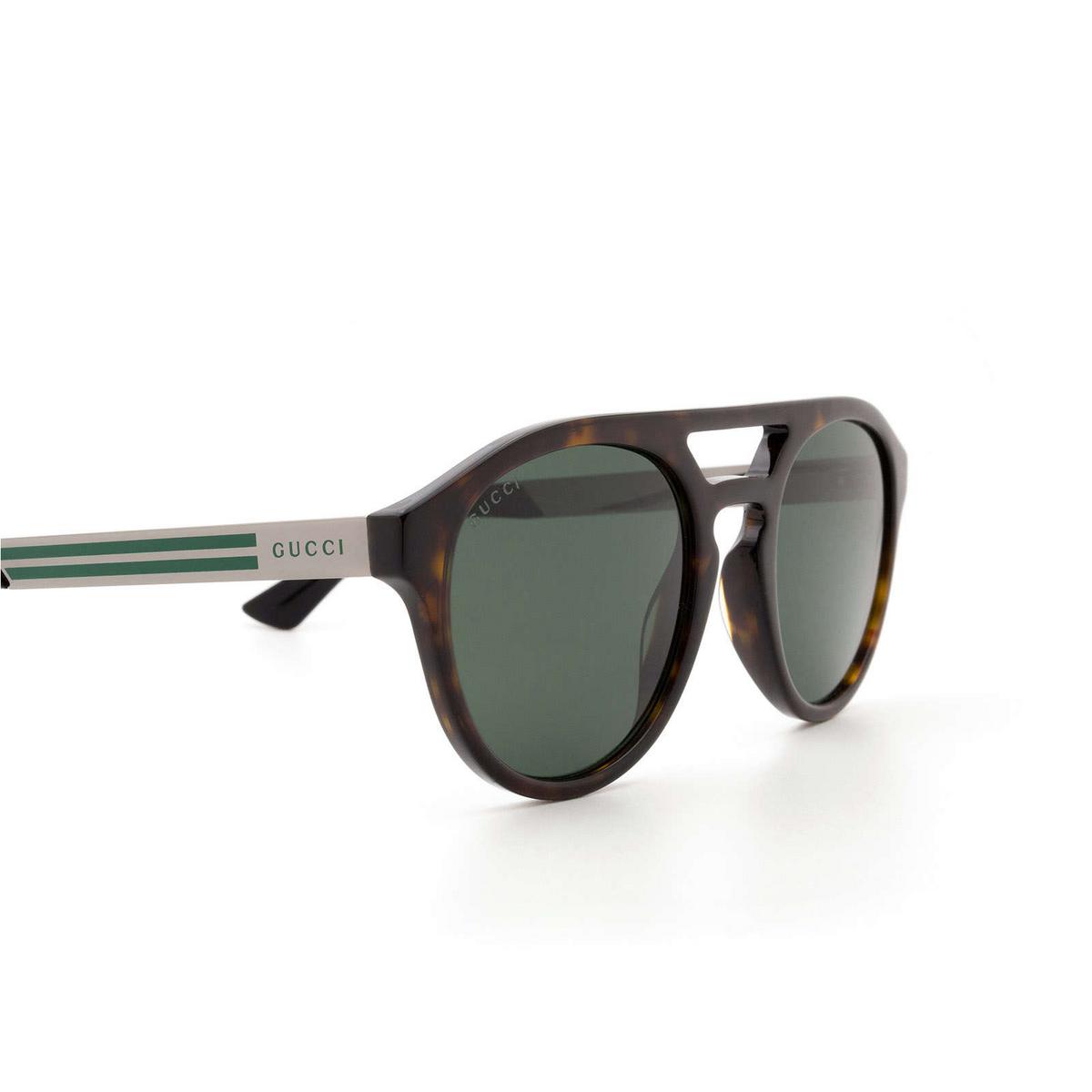 Gucci® Aviator Sunglasses: GG0689S color Havana 002 - 3/3.
