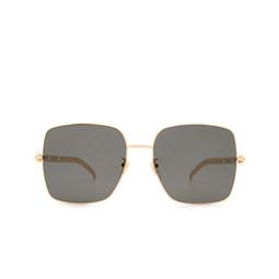 Gucci® Sunglasses: GG0724S color Gold 001.