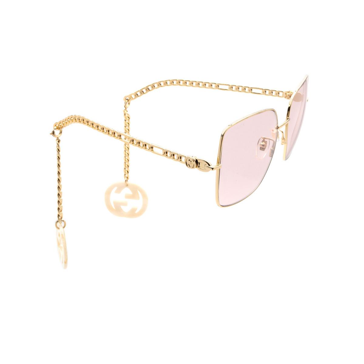 Gucci® Square Sunglasses: GG0724S color Gold 003.