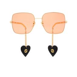 Gucci® Sunglasses: GG0724S color Gold 005.