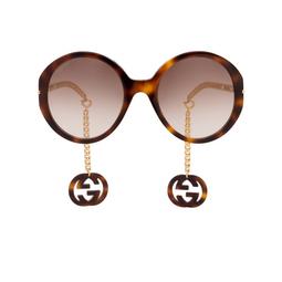 Gucci® Sunglasses: GG0726S color Havana 002.