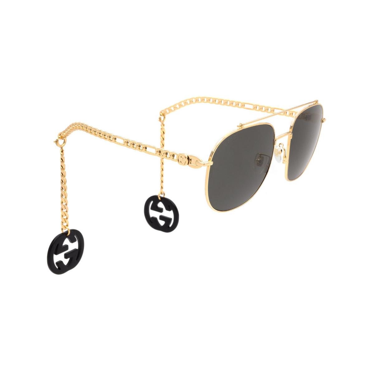 Gucci® Aviator Sunglasses: GG0727S color Gold 001 - 2/4.