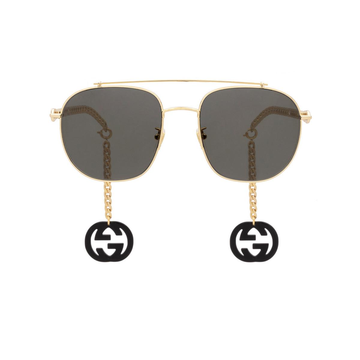 Gucci® Aviator Sunglasses: GG0727S color Gold 001 - 1/4.