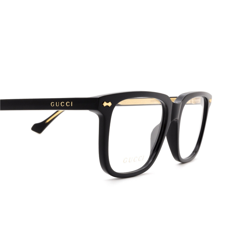 Gucci® Rectangle Eyeglasses: GG0737O color Black 005.