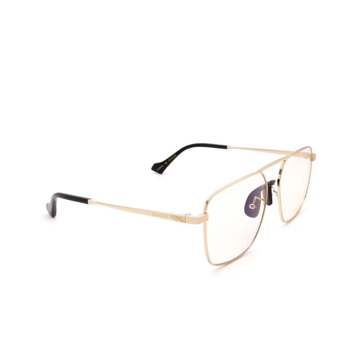 Gucci® Square Sunglasses: GG0743S color Gold 006.