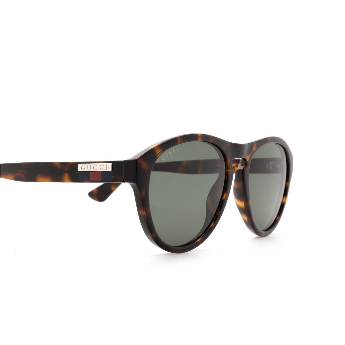 Gucci® Aviator Sunglasses: GG0747S color Havana 003 - 3/3.