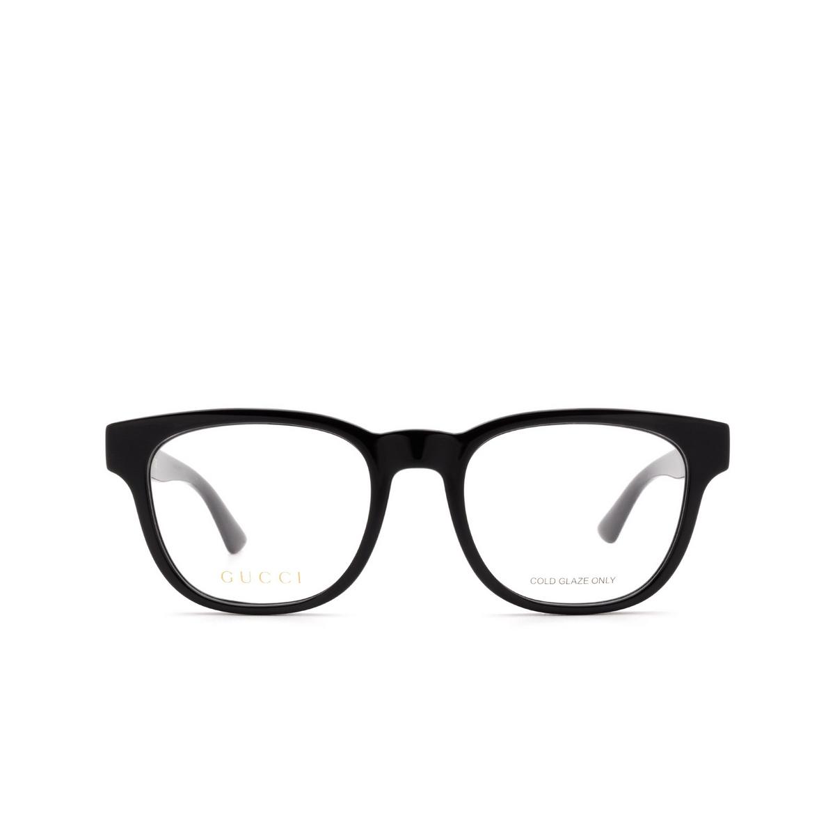 Gucci® Square Eyeglasses: GG0764O color Black 001.