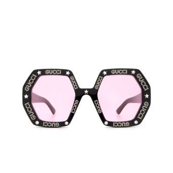 Gucci® Irregular Sunglasses: GG0772S color Black 012.