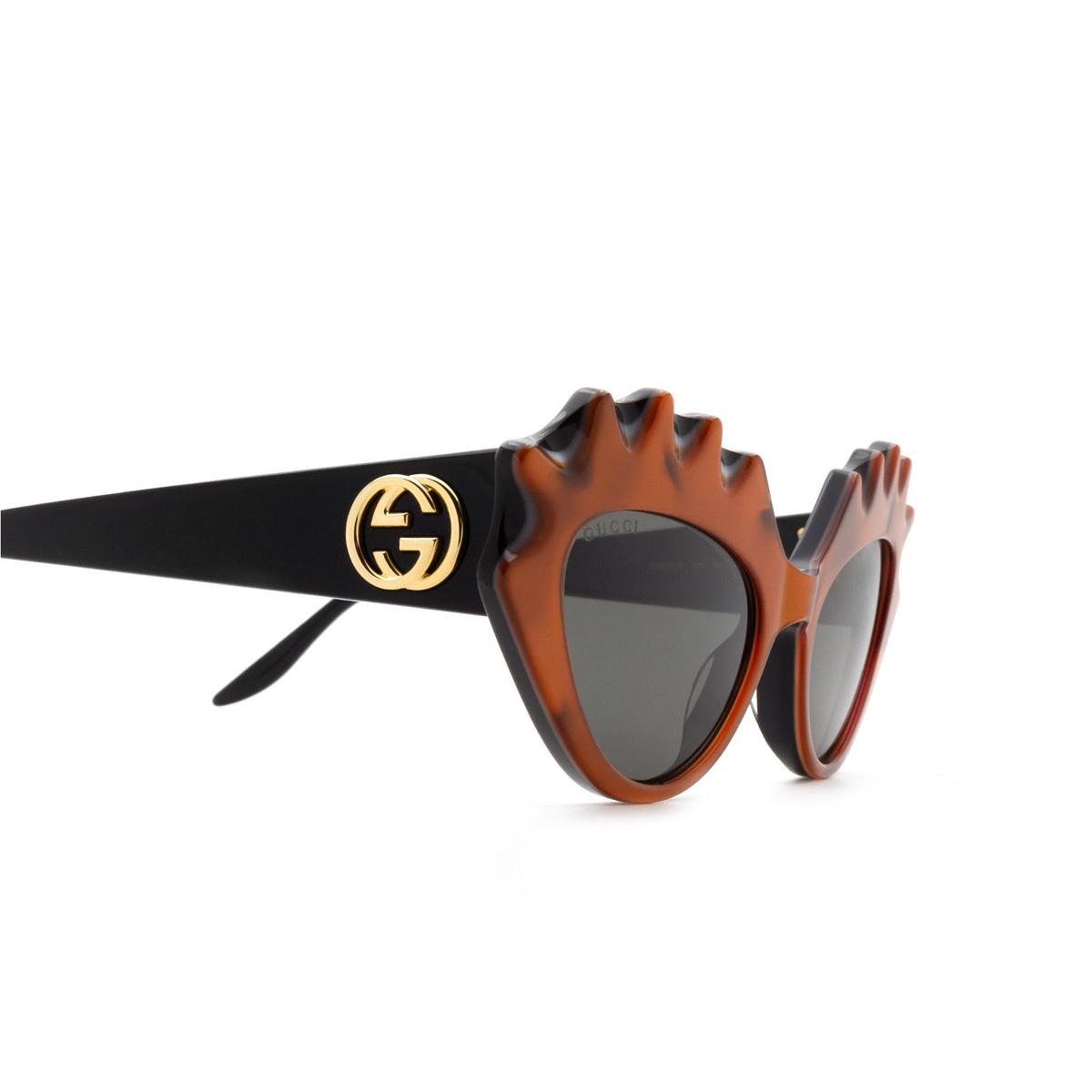 Gucci® Cat-eye Sunglasses: GG0781S color Orange 001 - 3/3.